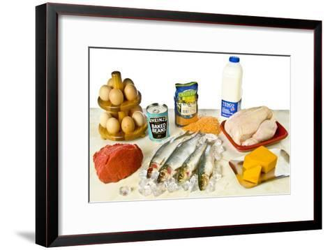High-protein Foods--Framed Art Print