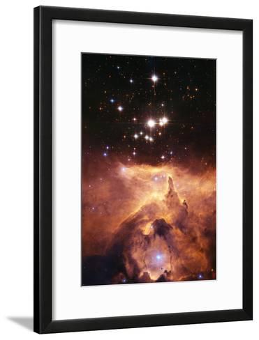 Star Cluster Pismis 24 Above NGC 6357-J. Maiz-Framed Art Print