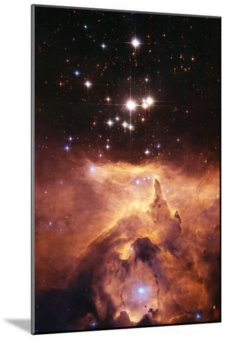 Star Cluster Pismis 24 Above NGC 6357-J. Maiz-Mounted Photographic Print