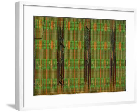 Microchip, Light Micrograph-Robert Markus-Framed Art Print