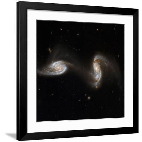 Interacting Galaxies NGC 5257 And 5258--Framed Art Print