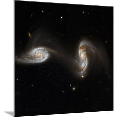 Interacting Galaxies NGC 5257 And 5258--Mounted Photographic Print
