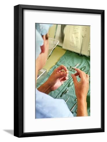 Surgical Instruments-Arno Massee-Framed Art Print