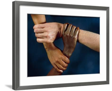Linked Hands-Tony McConnell-Framed Art Print