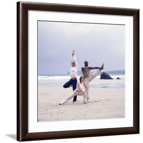 Capoeira And Yoga-Tony McConnell-Framed Art Print