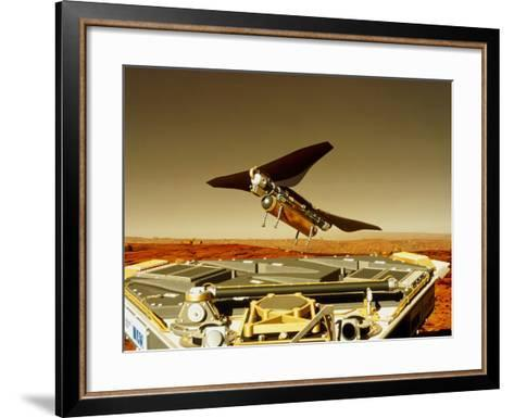 Flying Insect Robot And Refueller-Rob Michelson-Framed Art Print