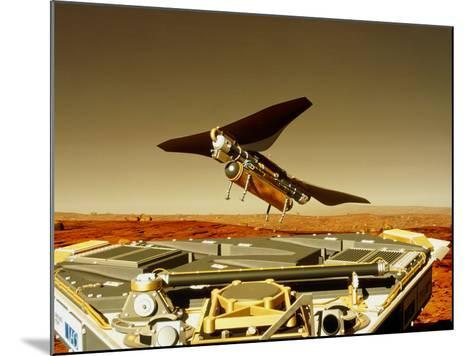 Flying Insect Robot And Refueller-Rob Michelson-Mounted Photographic Print