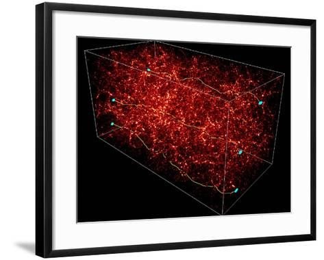 Dark Matter Map-Yannick Mellier-Framed Art Print