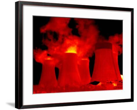Cooling Towers, Thermogram-Tony McConnell-Framed Art Print