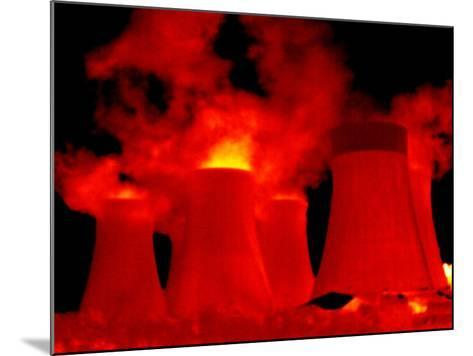 Cooling Towers, Thermogram-Tony McConnell-Mounted Photographic Print