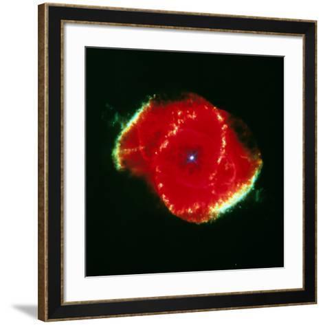The Cat' Eye Nebula Seen From the Hubble Telescope--Framed Art Print