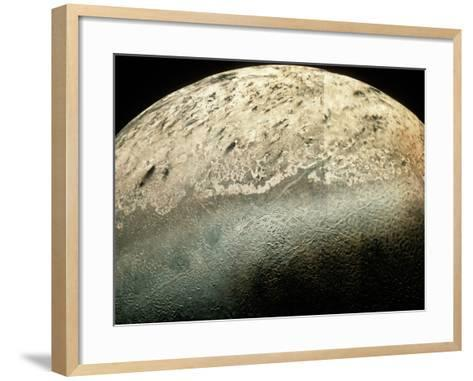 Voyager 2 Photomosaic of Neptune's Moon Triton--Framed Art Print