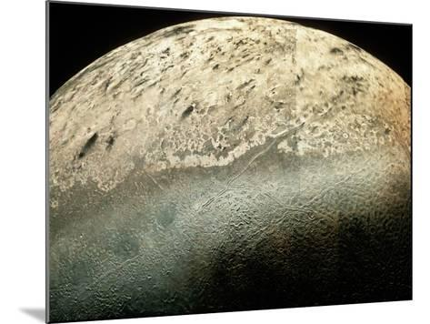 Voyager 2 Photomosaic of Neptune's Moon Triton--Mounted Photographic Print