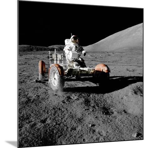 Eugene Cernan on Lunar Rover, Apollo 17--Mounted Photographic Print