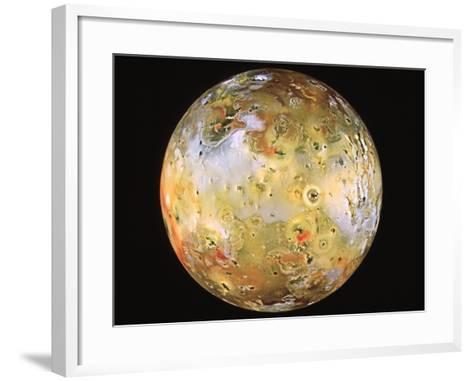 Jupiter's Moon Io Seen by Galileo--Framed Art Print