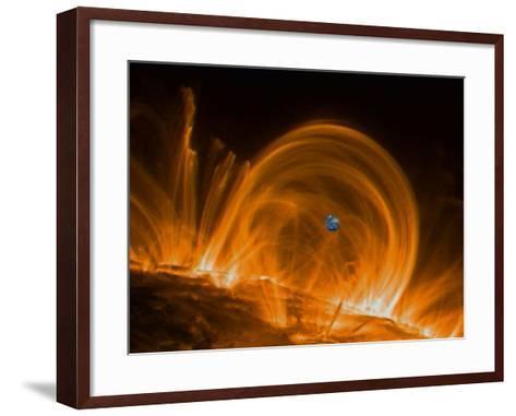 Solar Coronal Loops--Framed Art Print