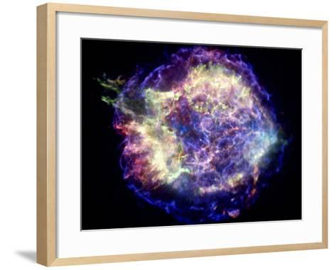 Supernova Remnant Cassiopeia A, X-ray--Framed Art Print