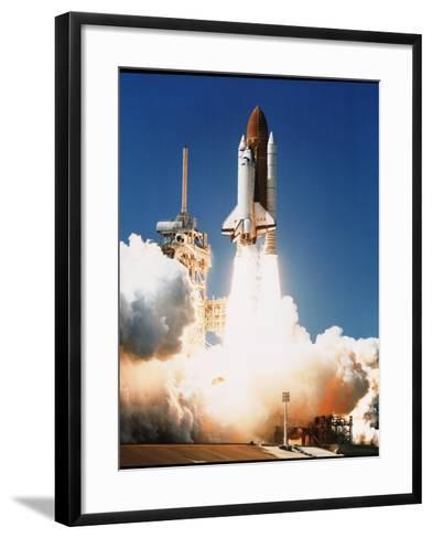 Space Shuttle Columbia--Framed Art Print
