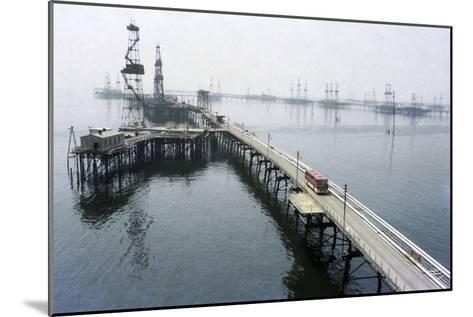 Soviet Caspian Sea Oil Fields, 1978-Ria Novosti-Mounted Photographic Print