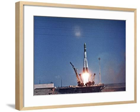 Launch of Vostok 1-Ria Novosti-Framed Art Print