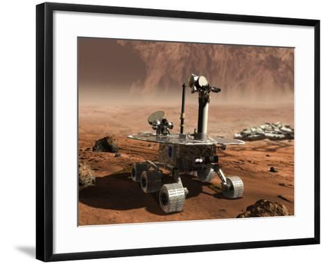 Mars Opportunity Rover--Framed Art Print