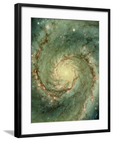 M51 Whirlpool Galaxy--Framed Art Print