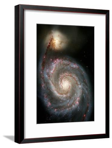 Whirlpool Galaxy--Framed Art Print