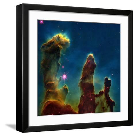 Gas Pillars In the Eagle Nebula--Framed Art Print