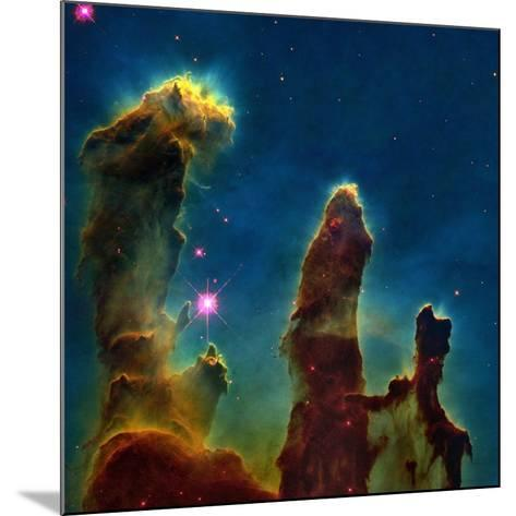 Gas Pillars In the Eagle Nebula--Mounted Photographic Print