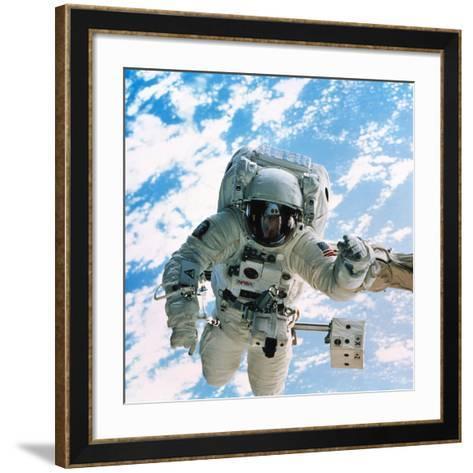 Spacewalk During Shuttle Mission STS-69--Framed Art Print