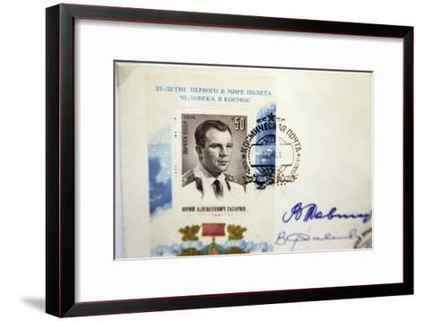 Yuri Gagarin Postage Stamp-Ria Novosti-Framed Art Print