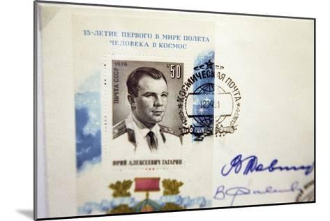 Yuri Gagarin Postage Stamp-Ria Novosti-Mounted Photographic Print