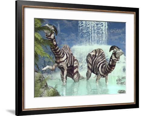 Parasaurolophus Dinosaurs-Walter Myers-Framed Art Print