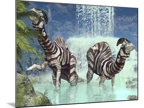 Parasaurolophus Dinosaurs-Walter Myers-Mounted Photographic Print