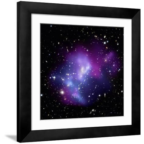 Galaxy Cluster MACS J0717--Framed Art Print