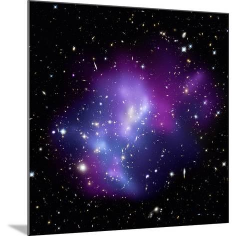 Galaxy Cluster MACS J0717--Mounted Photographic Print