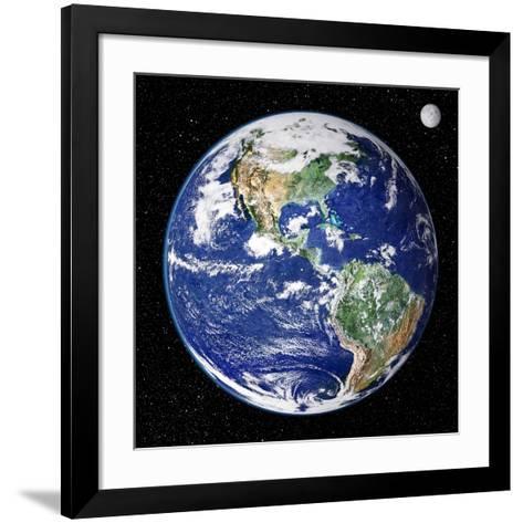 Earth From Space, Satellite Image--Framed Art Print