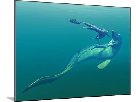 Cretaceous Marine Predators, Artwork-Walter Myers-Mounted Photographic Print