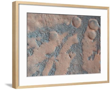 Antoniadi Crater, Mars, Satellite Image--Framed Art Print
