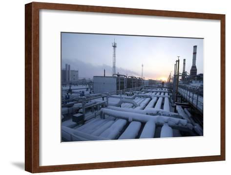 Natural Gas Condensate Production Well-Ria Novosti-Framed Art Print