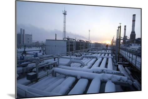 Natural Gas Condensate Production Well-Ria Novosti-Mounted Photographic Print