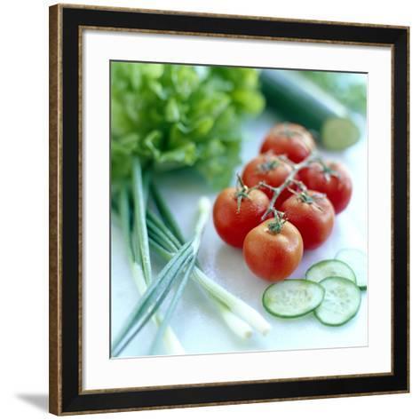 Salad Vegetables-David Munns-Framed Art Print