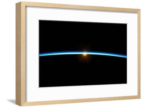 Sunset From Earth Orbit--Framed Art Print