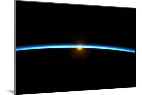 Sunset From Earth Orbit--Mounted Photographic Print