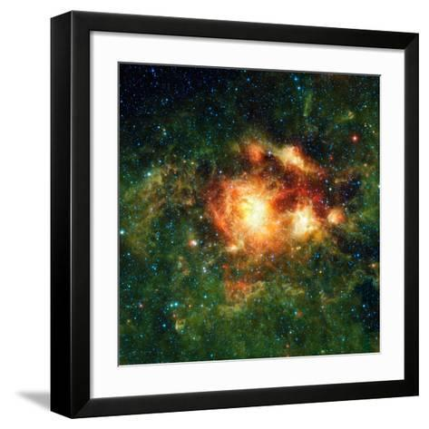 Star-birth Region, Space Telescope Image--Framed Art Print