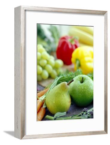 Fruits And Vegetables-David Munns-Framed Art Print
