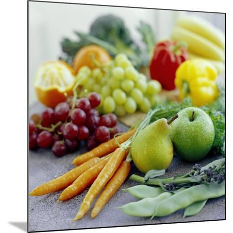 Fruits And Vegetables-David Munns-Mounted Photographic Print
