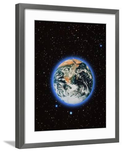 Whole Earth & Stars--Framed Art Print