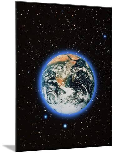 Whole Earth & Stars--Mounted Photographic Print
