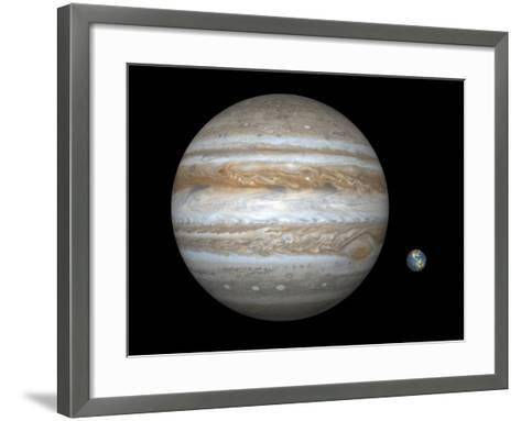 Jupiter And Earth Compared, Artwork-Walter Myers-Framed Art Print